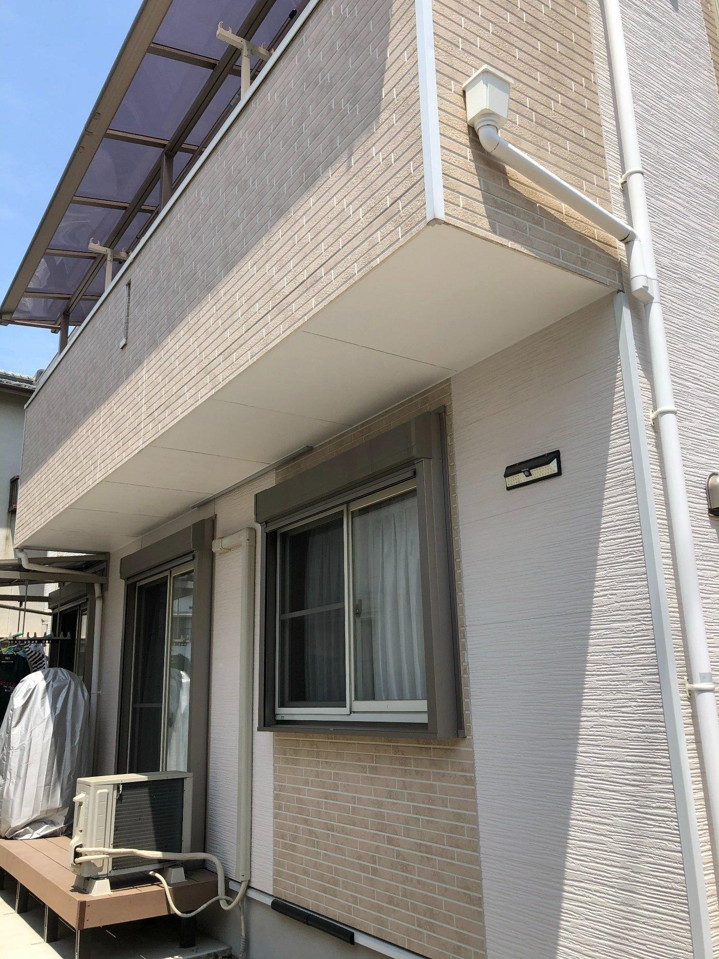 姫路市 ベランダ下の軒天修理