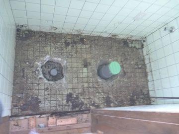 排水管修理後①