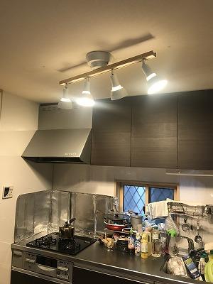 姫路市 台所を明るい照明にしたい