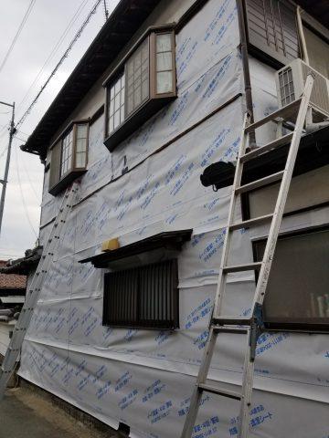 姫路市 焼板張替え工事