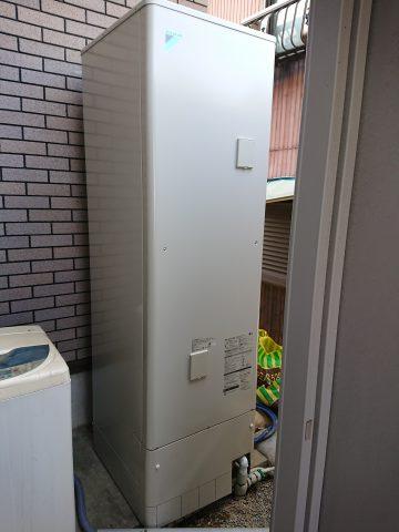 太子町 電気温水器からエコキュートに替えました