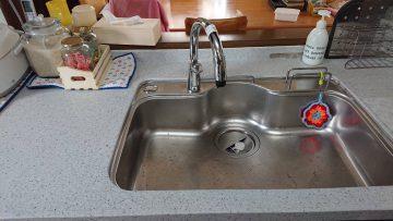 香寺町 水漏れするのでキッチン水栓取替