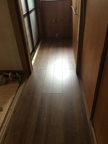 姫路市 台所・廊下 床やり替え工事