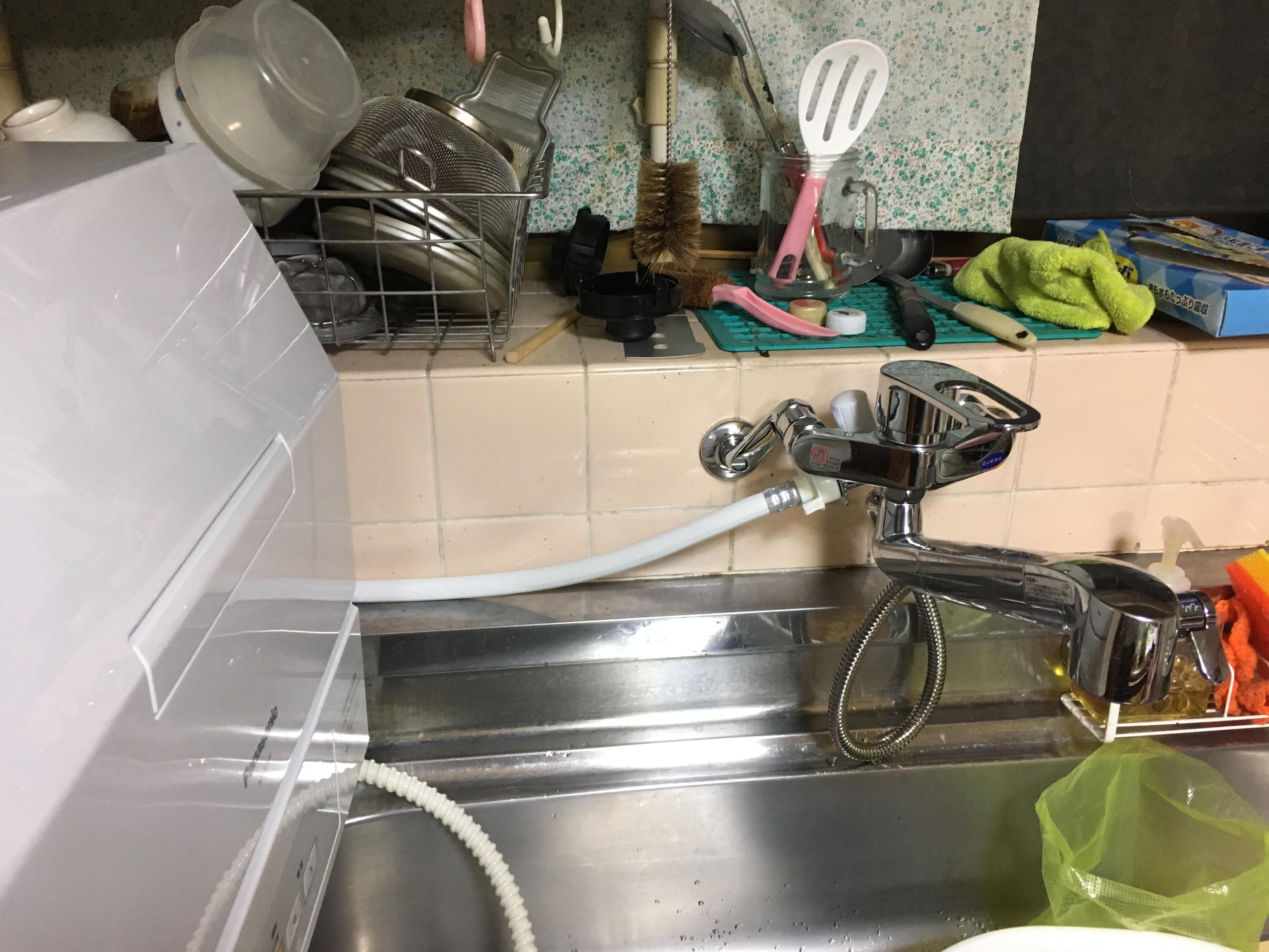姫路市 食洗器を使えるように 水栓交換