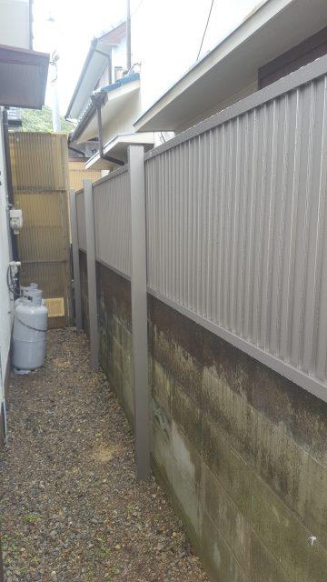 フェンス取付工事