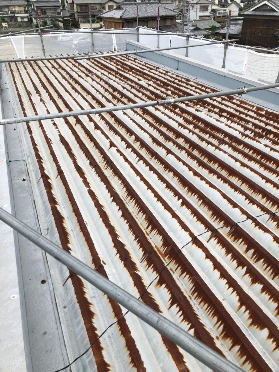 揖保郡太子町 折半屋根塗装工事
