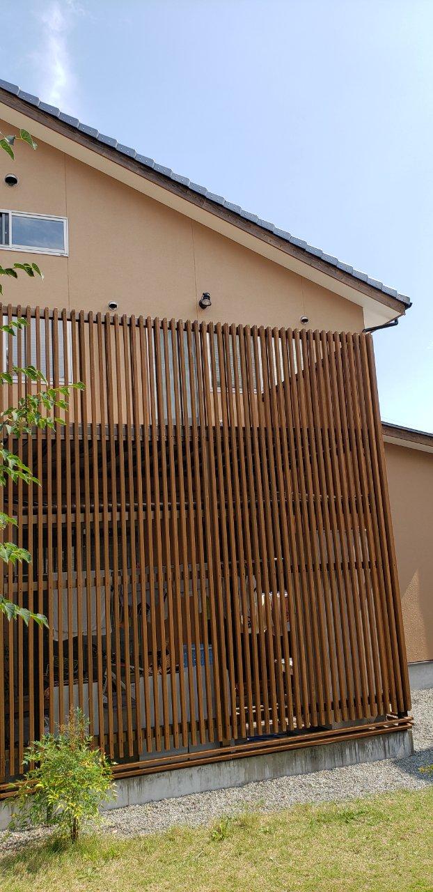 姫路市 外壁塗装と木製バルコニーをアルミバルコニーに