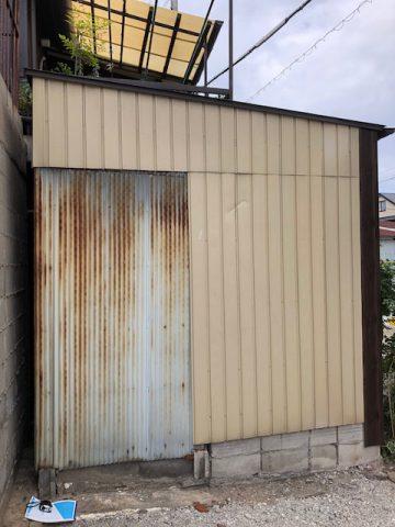 トタン壁補修