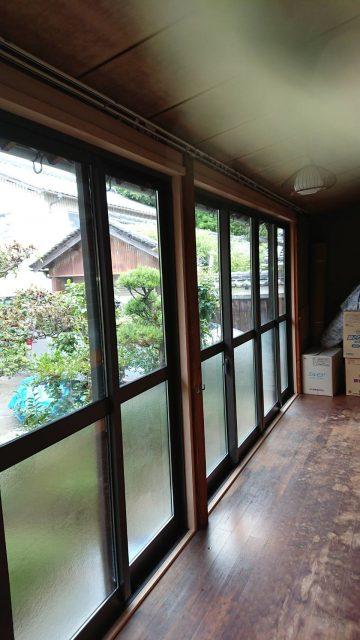 太子町 掃き出し窓 交換工事