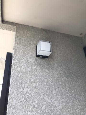 姫路市 玄関外部照明の取替