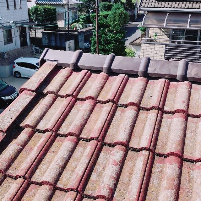 上郡町 モニエル屋根の棟補修