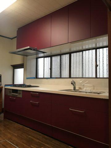 姫路市 念願の最高の赤のキッチン