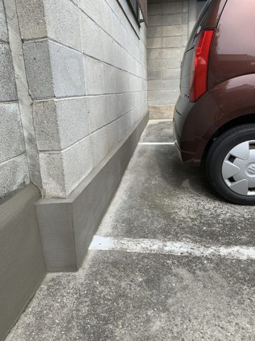 赤穂市 駐車場基礎部補修工事