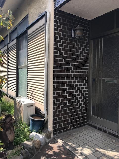 姫路市 外壁が崩れた