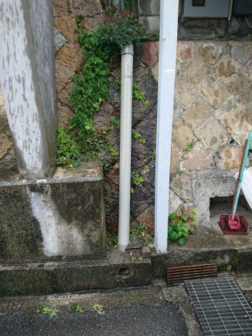 姫路市 雨水配管が詰まってる?