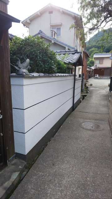 赤穂市 外塀塗装工事