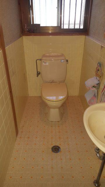 トイレ自動開閉、自動洗浄取替工事