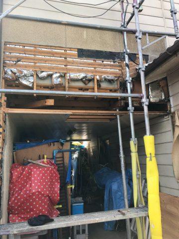 姫路市 雨漏り修繕工事の途中経過