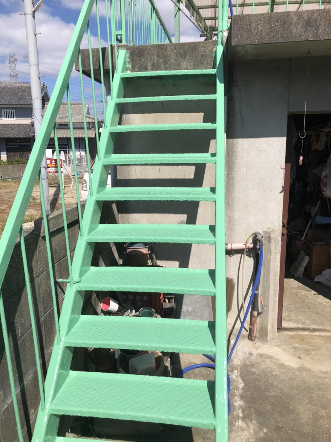姫路市 ベランダ鉄部塗装工事