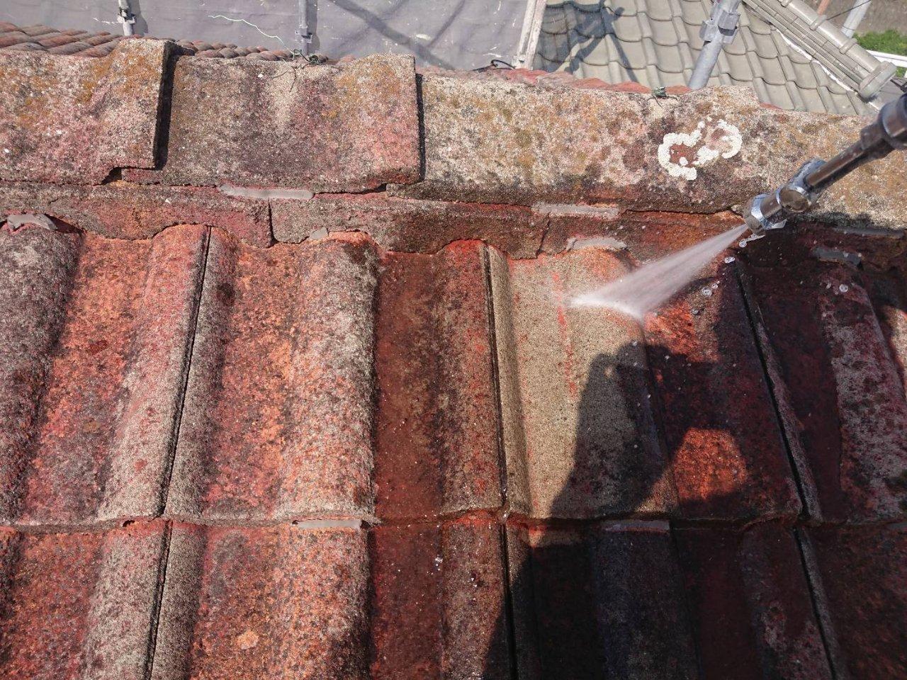 姫路市 モニエル瓦の屋根塗装工事