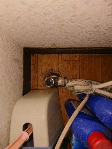 太子町 トイレの床が濡れている