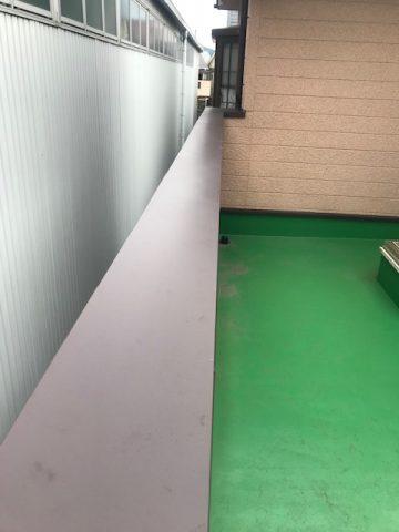 姫路市 笠木の塗装が剥げてきた