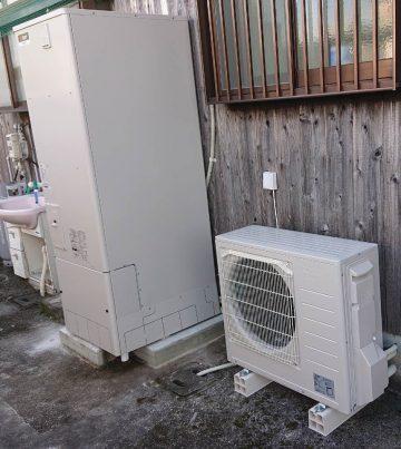 福崎町 石油給湯器からエコキュートへ取替え