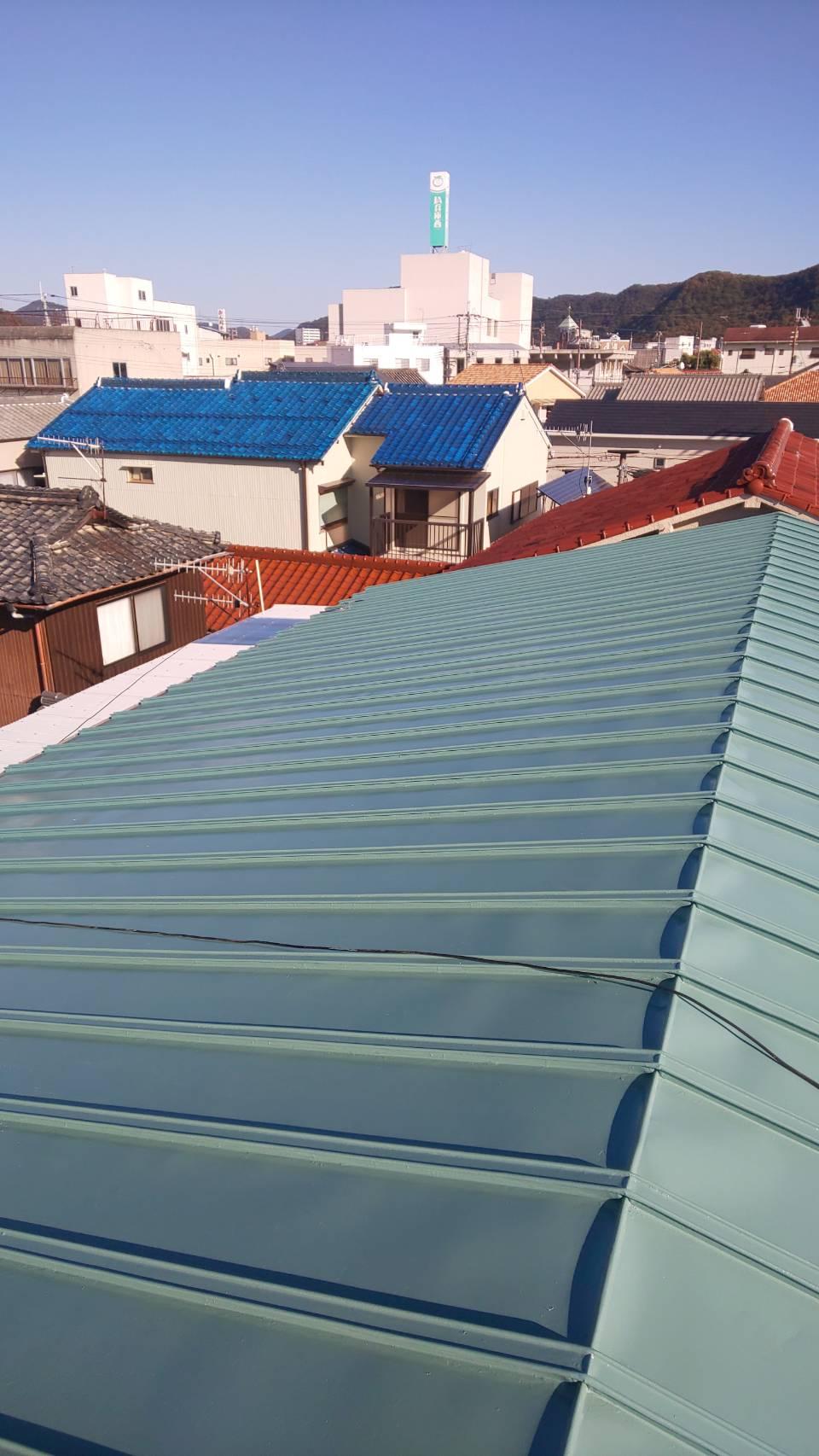 赤穂市 瓦棒屋根塗装工事