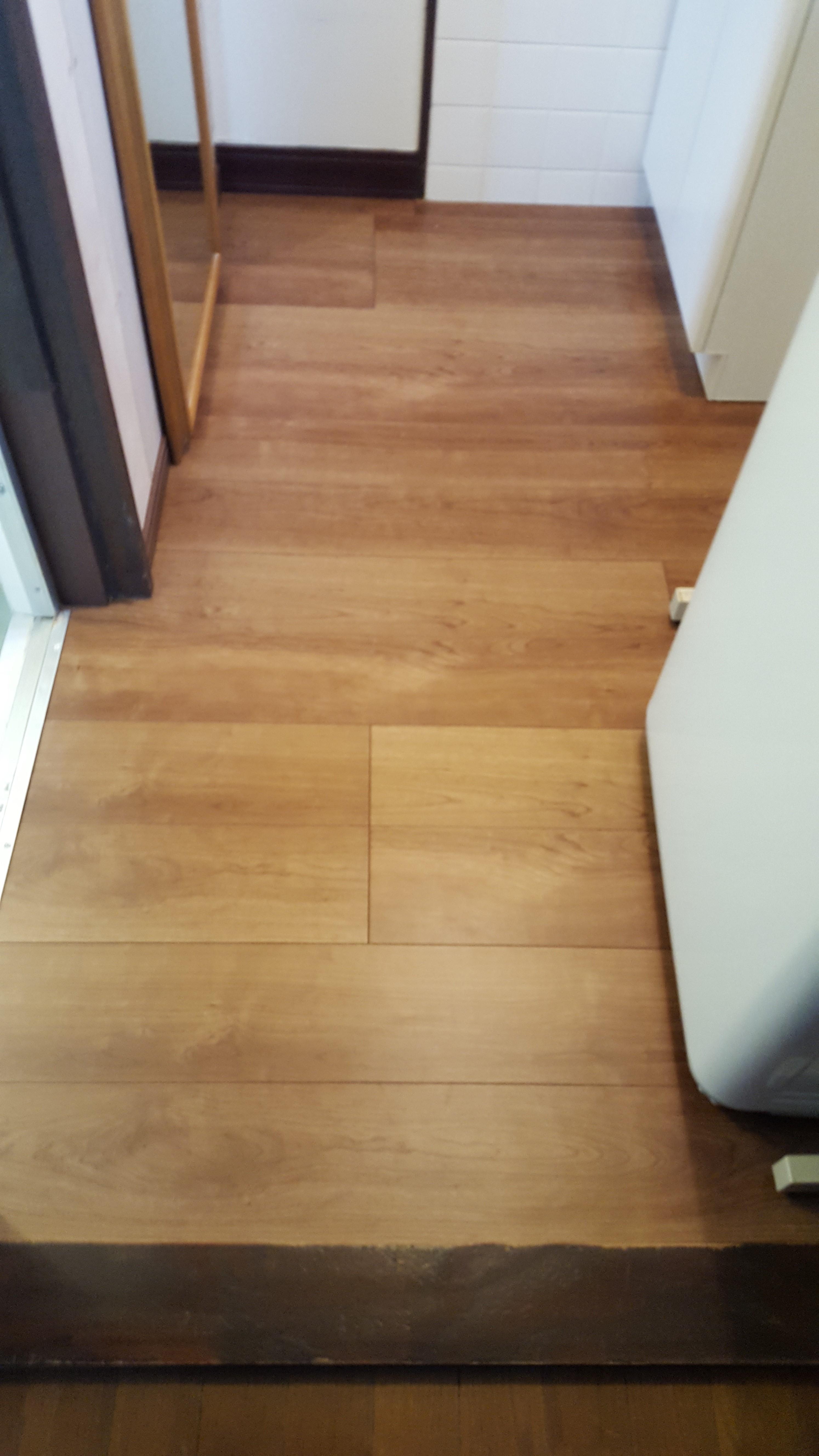 赤穂市 洗面室の床を張替!