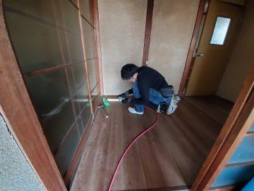 姫路市 廊下床貼り替え工事