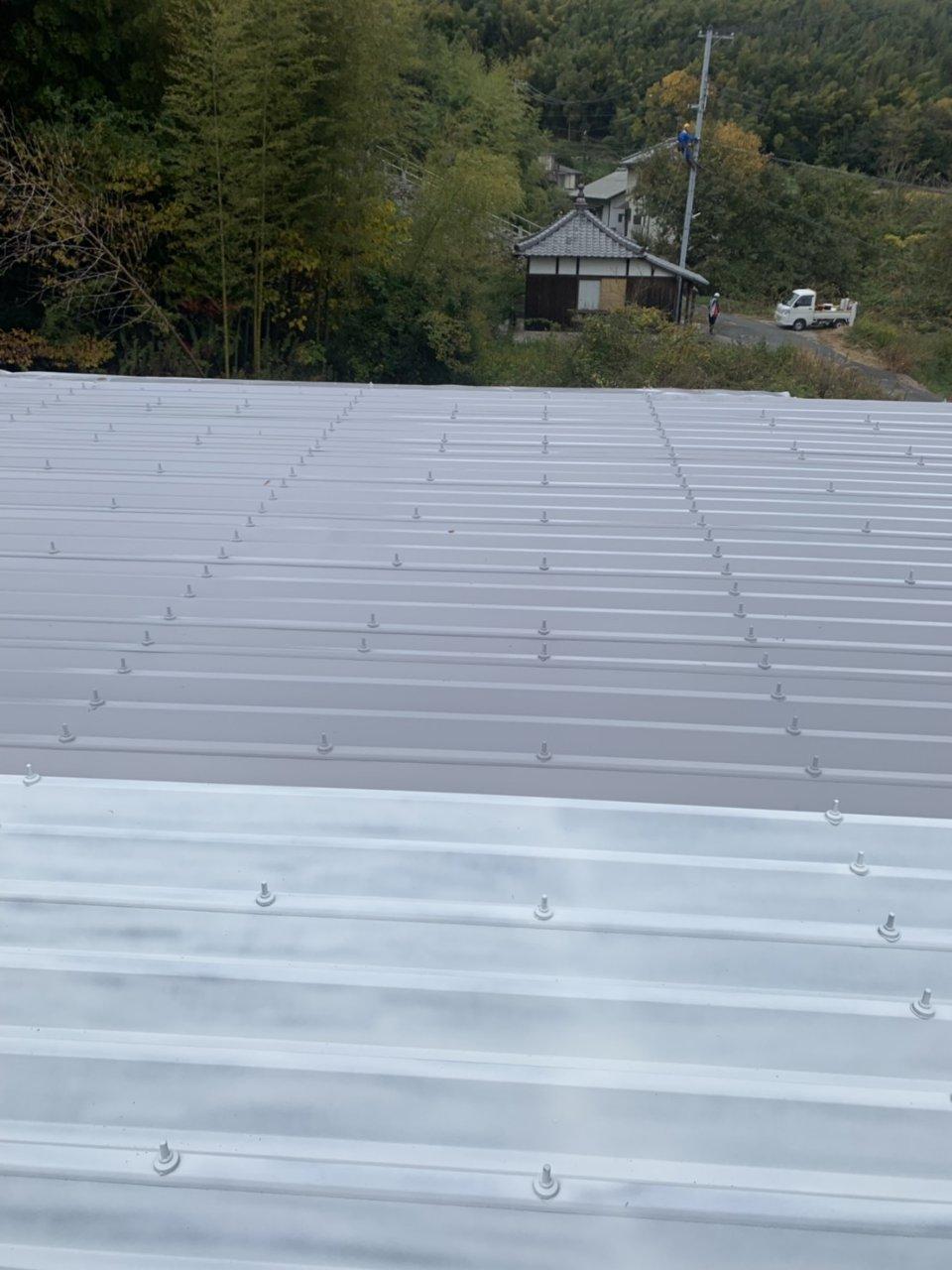 姫路市 折半屋根塗装工事