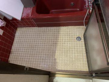 姫路市 浴室床タイル貼替え