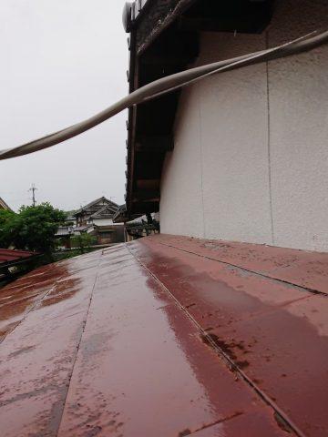 太子町 玄関庇の屋根を張り替え