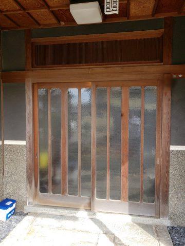 姫路市 ワンdayリフォーム玄関引き戸