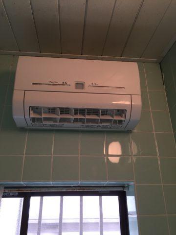 姫路市 寒い浴室に暖房乾燥機取り付け工事