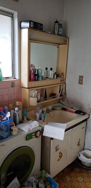 洗面施工前②