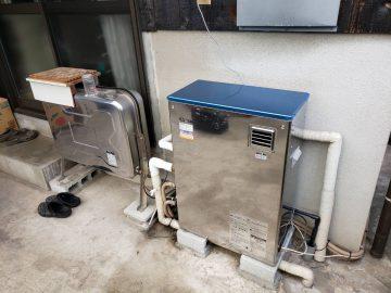 姫路市 石油給湯器取替工事