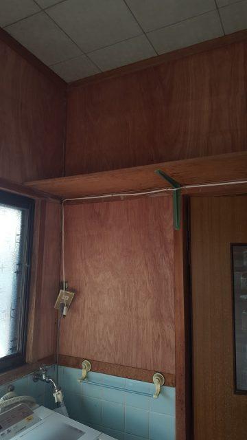 洗面室壁改修