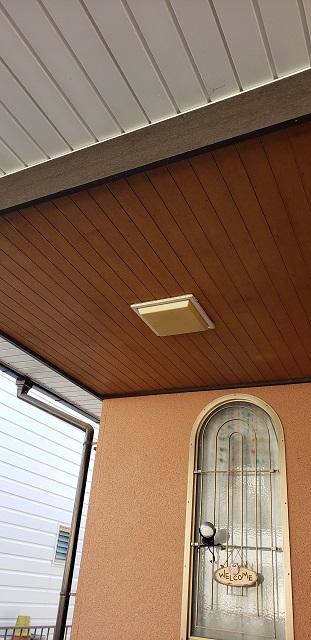 赤穂市 玄関の照明を取替える