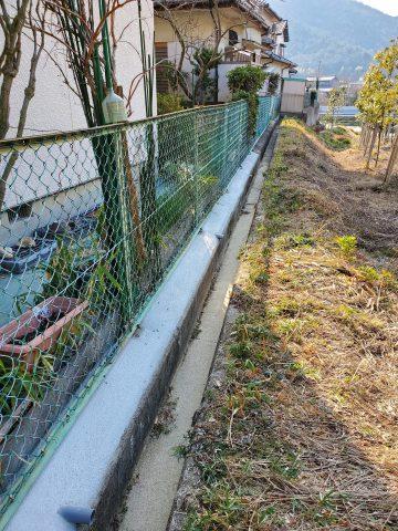 姫路市 防草用土間工事
