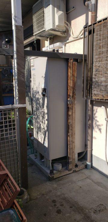 たつの市 電温からエコキュートに入替え工事