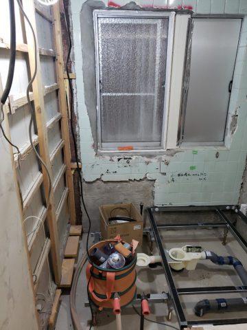 浴室解体撤去