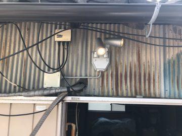 姫路市 ベランダ照明取付