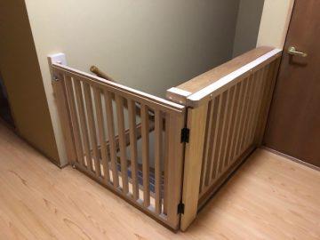 相生市 階段に赤ちゃん用ゲート造作