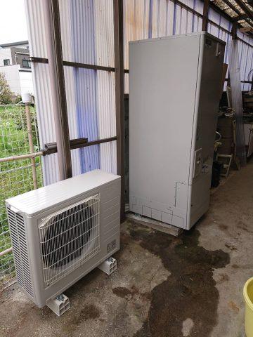 姫路市 電気温水器から省エネなエコキュートへ取替