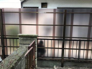 姫路市 目隠しフェンス新設