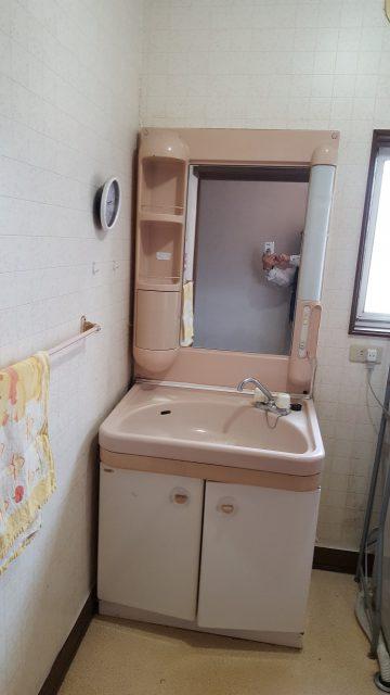 洗面台取替