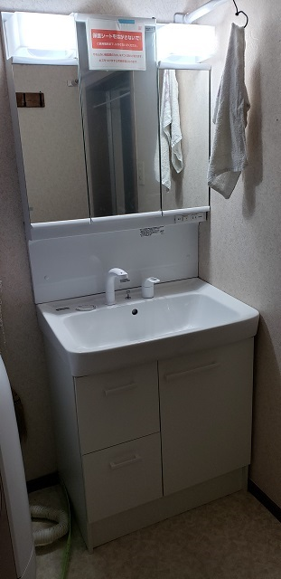 赤穂市 洗面台の取替え