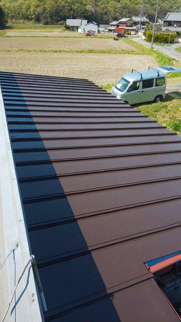 上郡町 瓦棒屋根の塗装工事