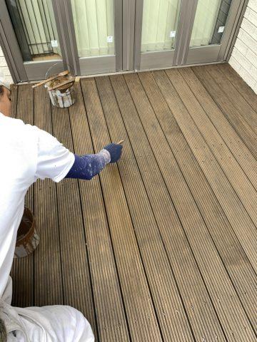 姫路市 木製ウッドデッキ塗装